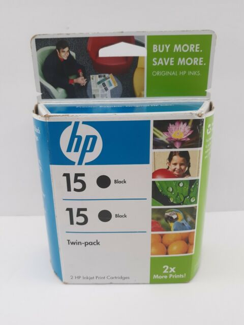 HP 15 Ink Cartridge Black Twin Pack Genuine Expired dec.2009 NEW (Sealed)
