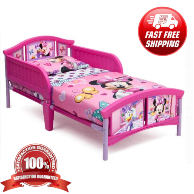 Minnie Mouse Toddler Bedroom Furniture Set Disney Bed Toy Bin Pink Girls For Sale Online Ebay