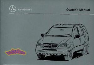 mercedes ml320 ml430 owners manual 1999 book ml 320 430 handbook rh ebay ie Green Mercedes-Benz ML320 1999 1999 mercedes benz ml320 owners manual pdf