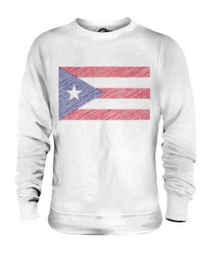 Puerto Rico Griffonnage Drapeau Unisexe Pull Cadeau Puerto Rican Football