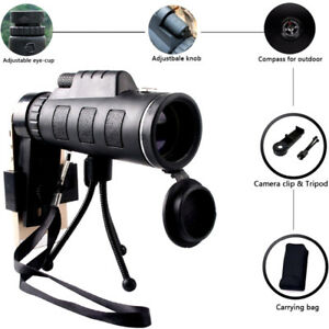 40X60-HD-Zoom-Optical-Monocular-Telescope-Lens-Clip-W-Tripod-For-IPhone-Android