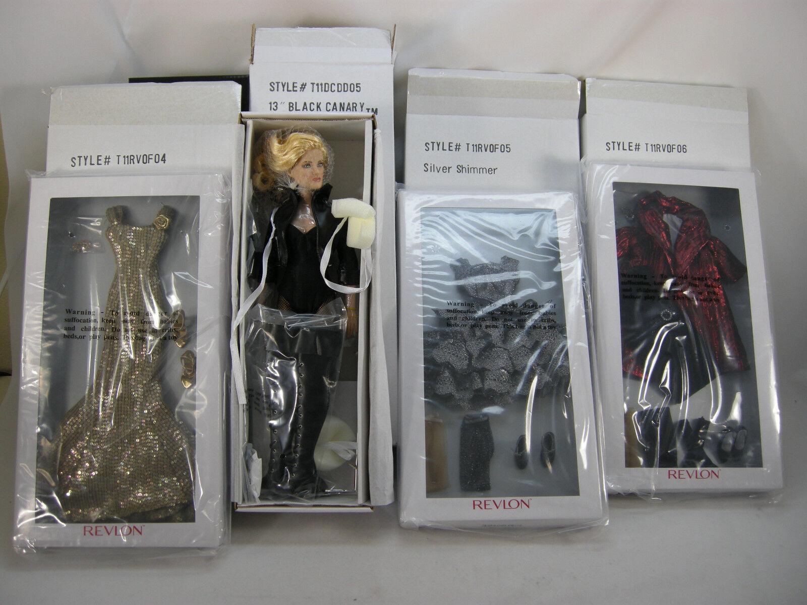 13  negro canario Tonner Doll 3 Conjuntos De Plata Brillo Midas Touch Terciopelo Dazzle