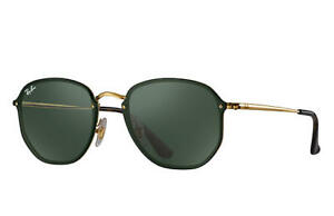 e272ba41ef Ray Ban Blaze RB3579N Gold Frame Green Classic 58mm Lens Sunglasses ...