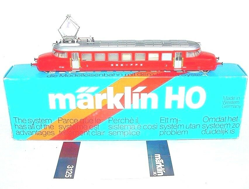 Marklin AC HO 1 87 Swiss SBB FFS  RED ARROW  Electric RAILCAR MIB`85 RARE