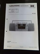 Original Service Manual  Grundig RR 2000