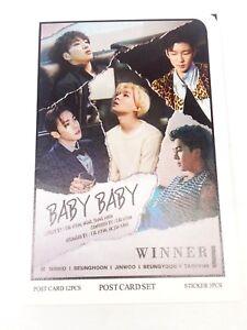 Winner-YG-Family-Photo-Post-Card-Set-Sticker-KPOP-PostCard-Goods-MinHo-SeungHoon