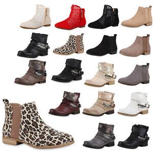 Spitze 74544 Schuhe Zu Flache Details Boots Trendy Ankle Damen Stiefeletten QrxWeEdBCo