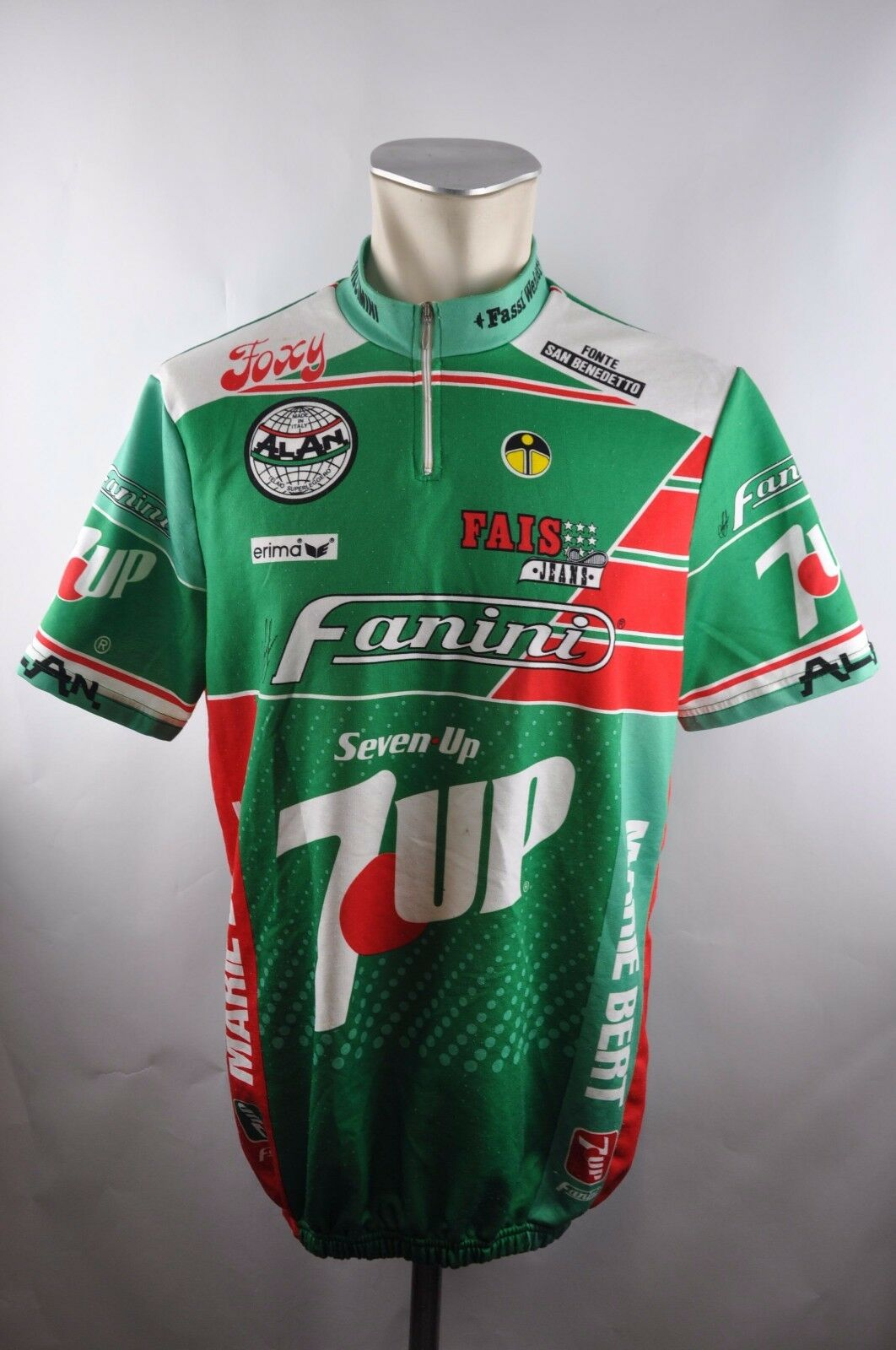 Erima 7up seven up vintage cycling jersey Bike Rad Trikot Gr. 7 58cm U5
