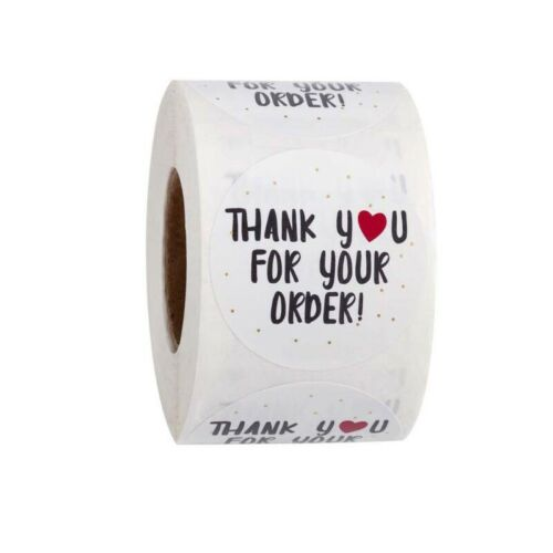 "500Pcs//Rolls /""Thank You/"" Craft Packaging Seals Kraft Sealing Sticker Label USA"