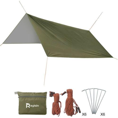 Tarp 3×3 Wasserdicht Sonnensegel Hängematte Outdoor Camping Zelt Plane
