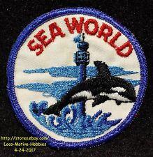 LMH PATCH Badge SEA WORLD Seaworld OBSERVATION TOWER Orca SHAMU Whale San Diego