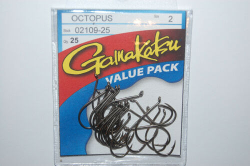 Gamakatsu Octopus Crochets Taille 2 25 Per Pack 02109-25 Value Pack