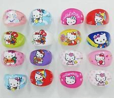 Lovely Cartoon Hello Kitty Plastic Rings for Children Kid Girls Jewelry