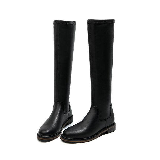 botas bikers negro como piel cómodo cómodo cómodo botas militares mujer talón 3 1509  liquidación hasta el 70%