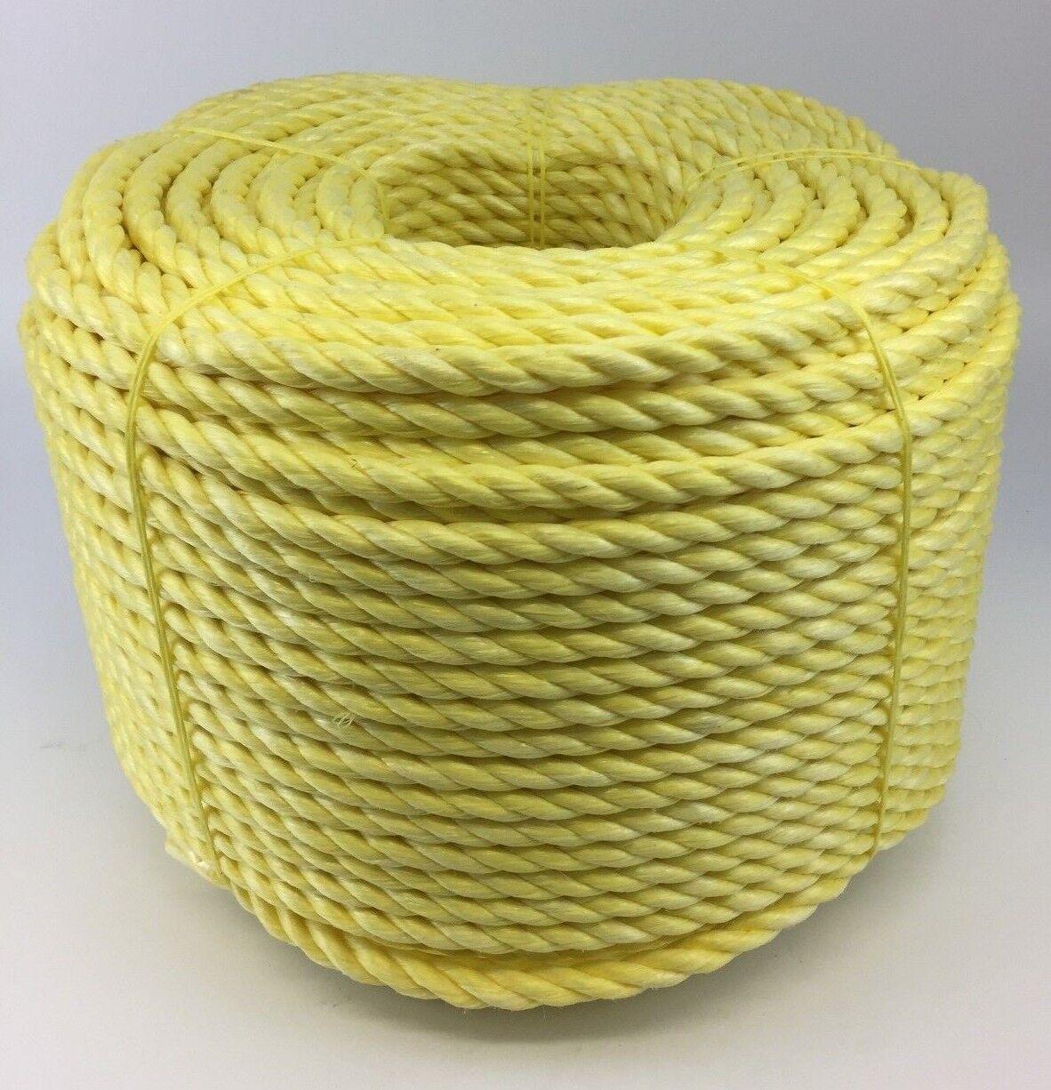 16mm gelb POLYPROPYLEN SEIL x 100 Meter, Poly-Seil Rollen, preiswert Nylon Seil