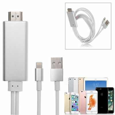 1x 8 Pin Lightning to HDMI HDTV AV Cable Adapter for iPhone 7 6s Plus  Air2