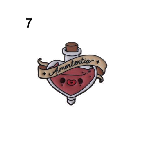 Cute Funny Design Enamel Brooches Lapel Pins Cartoon Badges Friends Gifts Xmas