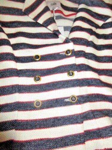 8 cruise Blazer W et ~ Nwt Cabi rouges bleues rayures Blazer 6 à W's Jacket 159 T6g6qwFx