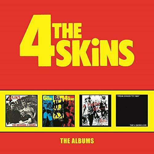 THE 4 SKINS - THE ALBUMS: 4CD CLAMSHELL BOXSET [CD]