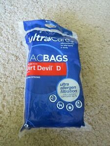 ️ 3 Pack Dirt Devil Ultra Care Upright Vacuum Cleaner Bags