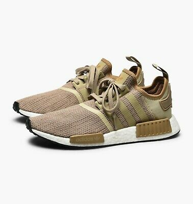 sports shoes 4fb1b ae0da Mens Adidas NMD R1 Originals Trainers Shoes Brown Beige White B79760 | eBay