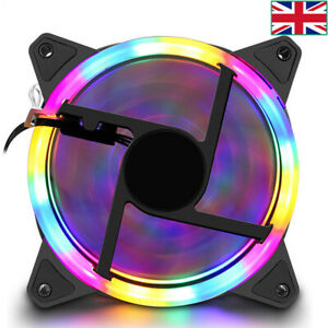 LED Cooling Fan RGB 120mm 12V Brushless Cooler For Computer Case PC CPU