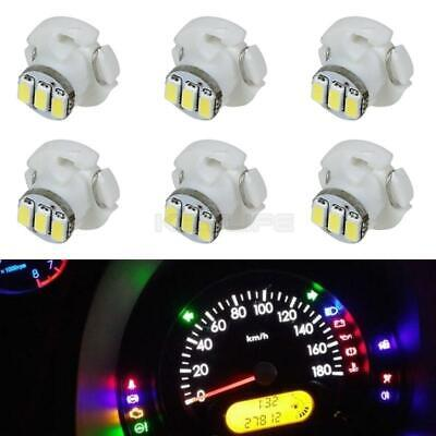 Partsam T3 Neo Wedge LED Light Bulbs A//C Climate Heater Control Lamps Gauge Cluster Instrument Dashboard Bulbs White 6PCS