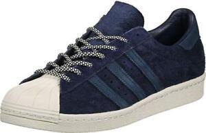 half off 8adda 914e2 Details about Adidas Mens ORIGINALS Superstar 80's Trainers Navy Blue / UK  11.5 NEW / RRP £90