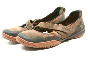 Merrell-ALBANY-Sport-Maryjane-Flats-Womens-Shoes-size-9-espresso-suede-Sneakers