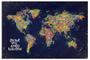 Colour your world beautiful map poster new maxi size 36 x 24 image is loading colour your world beautiful map poster new maxi gumiabroncs Images