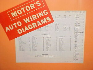 details about 1961 1962 1963 1964 1965 lincoln continental convertible sedan wiring diagrams Lincoln Continental Wiring-Diagram
