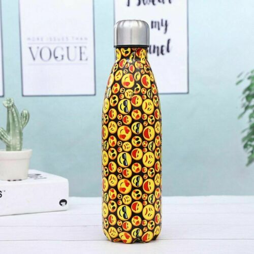 350-1000ML Water Bottle Flask Stainless Steel Double Wall Vacuum Insulated Drink