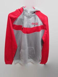 Coca-Cola-Performance-Hooded-Sweatshirt-Hoodie-Chevron-design-BRAND-NEW