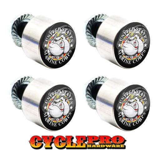 4 Billet ATV/'s Motorcycle Hex License Plate Tag Fastener Frame Bolts Universal