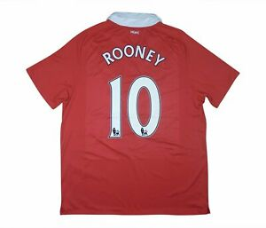 Manchester United 2010-11 Authentic Maglietta Rooney XL soccer jersey
