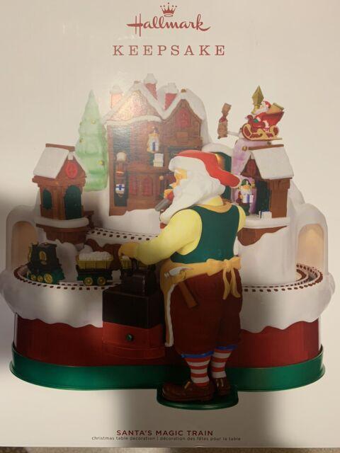 2019 Hallmark Santa's Magic Train Musical Tabletop Decoration North Pole Elf NIB