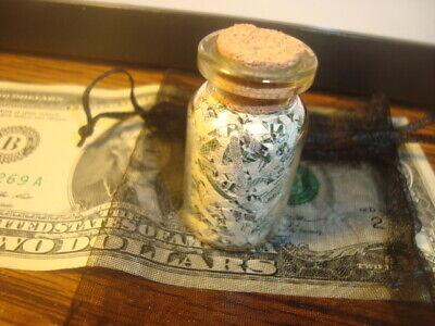 Glass Bottle of USA Shredded Money Federal Reserve Shredded Currency,Gift Bag