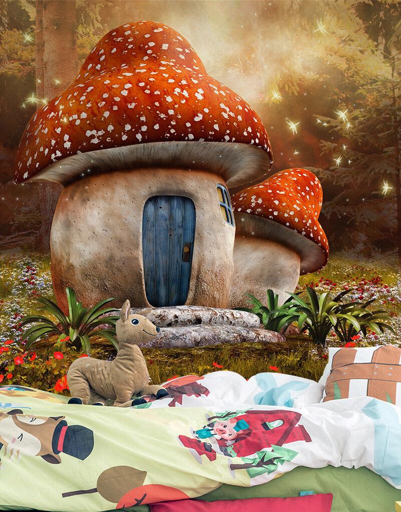 3D Mushroom House 75 Wall Paper Murals Wall Print Wall Wallpaper Mural AU Summer