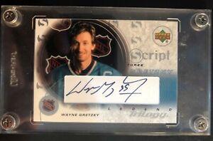 2003-Upper-Deck-Wayne-Gretzky-Script-Three-Legend-Trilogy-Autograph-S3-GR-Mint