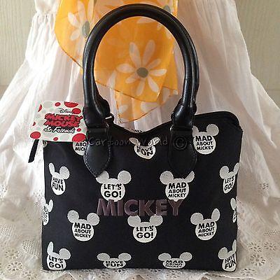 DISNEY MICKEY MOUSE Handbag Clutch Purse Tote Shopper Bag W 32 x H 20 cm (S).
