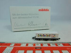 AU606-0-5-Maerklin-mini-club-Z-DC-Containerwagen-Jahreswechsel-95-96-NEUW-OVP