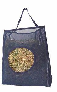 Horse-Mesh-Hay-Bag-Black-Holds-2-Biscuits-Easily-With-Adjustable-Hanger