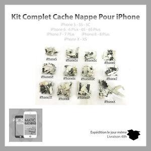 Kit-Complet-Cache-Nappe-pieces-metalliques-pour-Iphone-5-5S-5C-6-6S-7-8-X-XS
