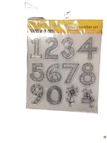 Penny Black Number Stamps