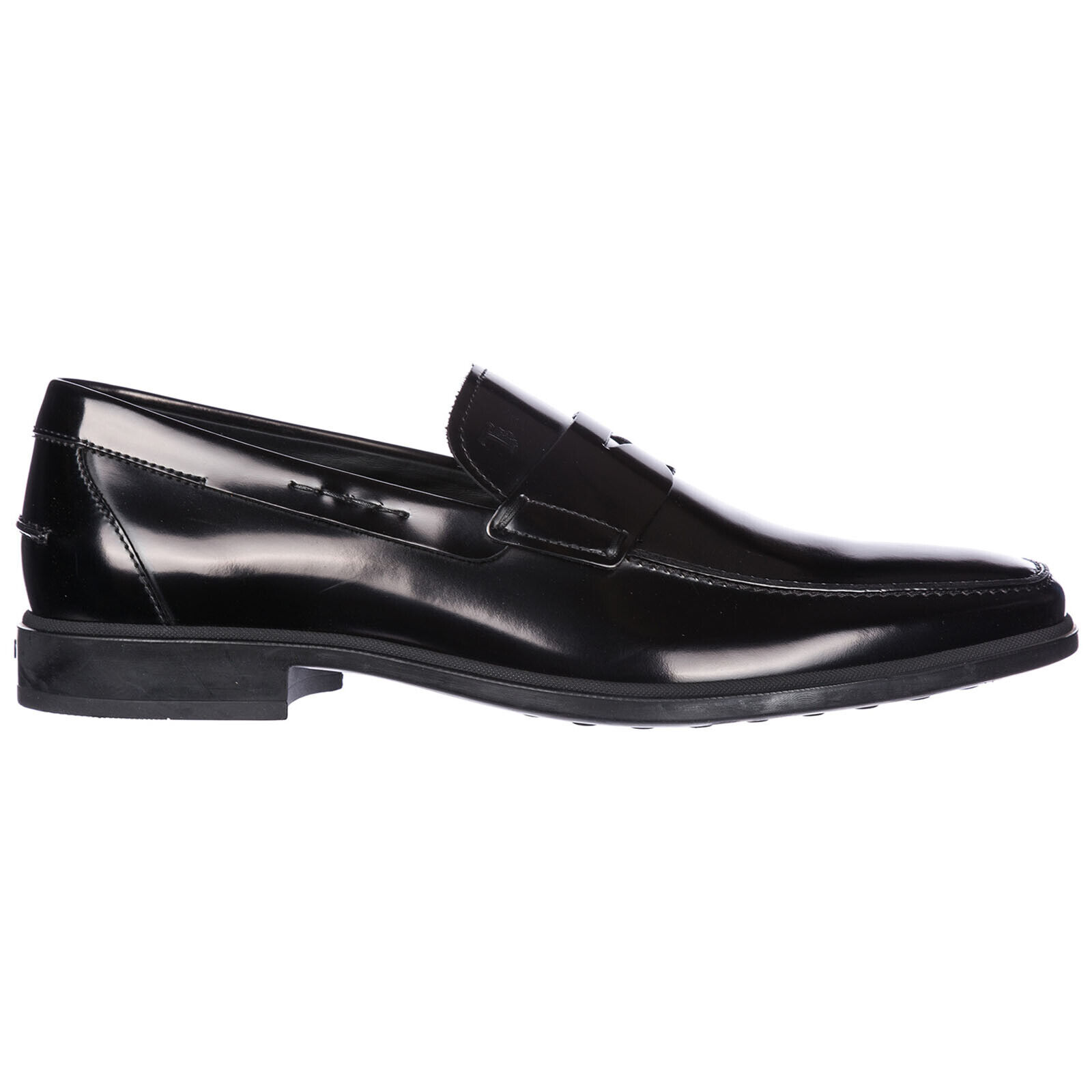 TOD'S herren LEATHER LOAFERS MOCCASINS NEW schwarz 99B