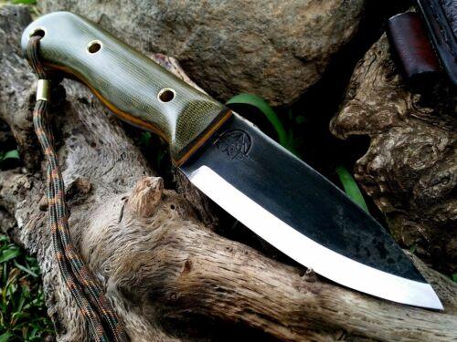 KRF 0-1 tool steel Custom Bushcraft //Survival //Camping//  O.DGreen USA 1#