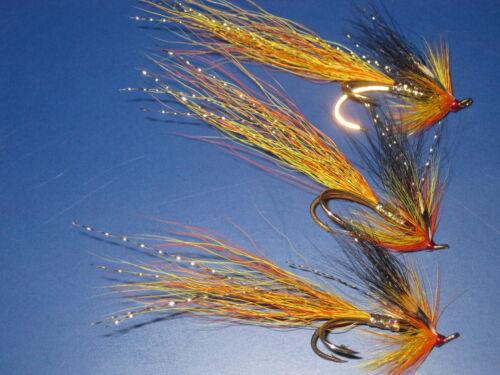 3 V FLY TAILLE 7 édition intégrale alta cascade nordique gold gold double Salmon Flies