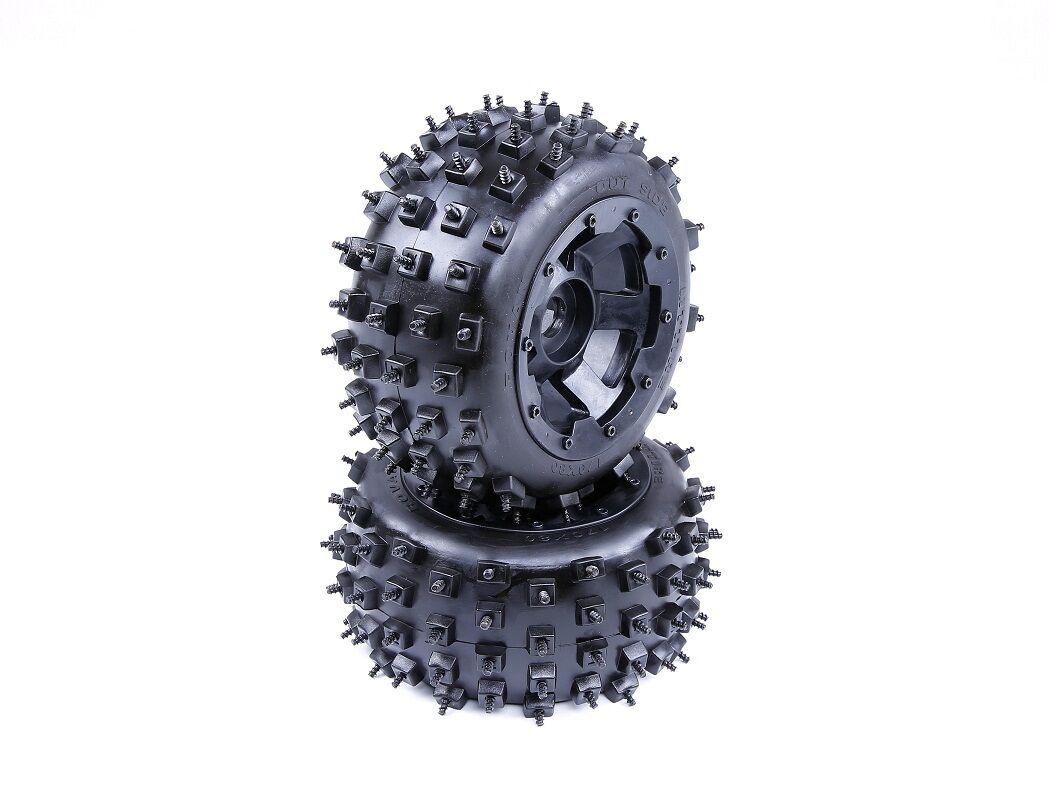 Trasero Con Tachas Neumáticos 2PCS Ajuste Para Hpi Baja 5B