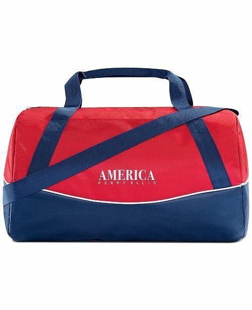 Perry Ellis AMERICA Weekender Duffle Travel Overnight Gym Bag Brand New!