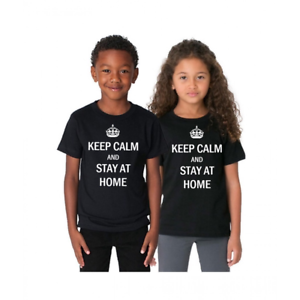 Keep Calm And Stay At Home T shirt STOP virus outbreak help prevent All Size